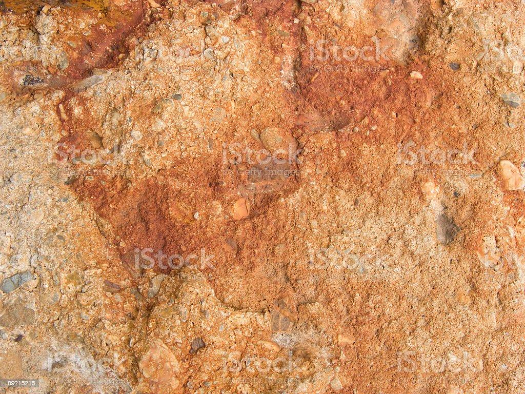 Rust On Concrete royalty-free stock photo