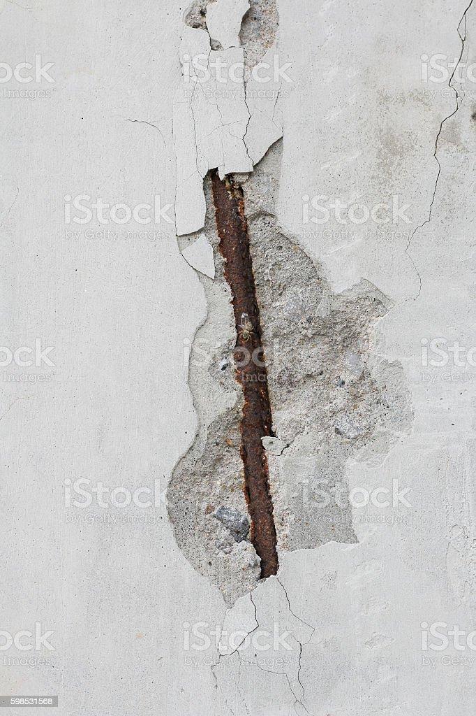 Rust on concrete poles. stock photo