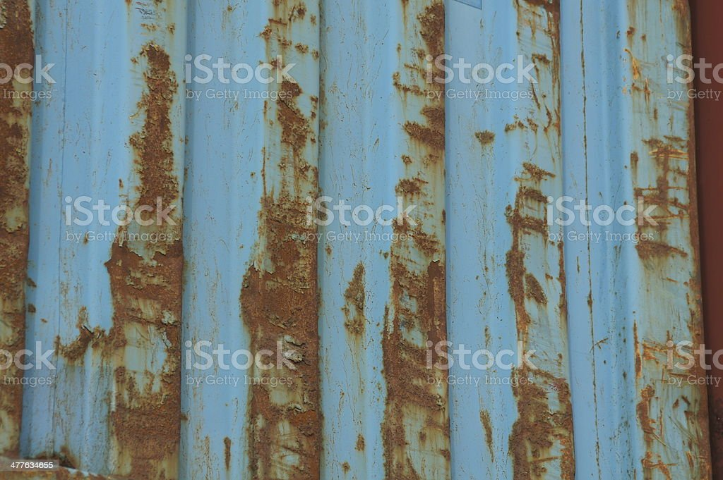 Rust on container royalty-free stock photo