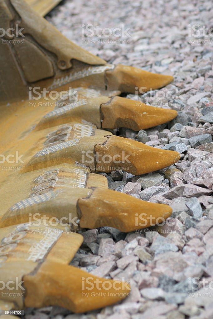 rust on road building equipment royalty-free stock photo