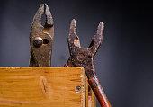 rust pliers