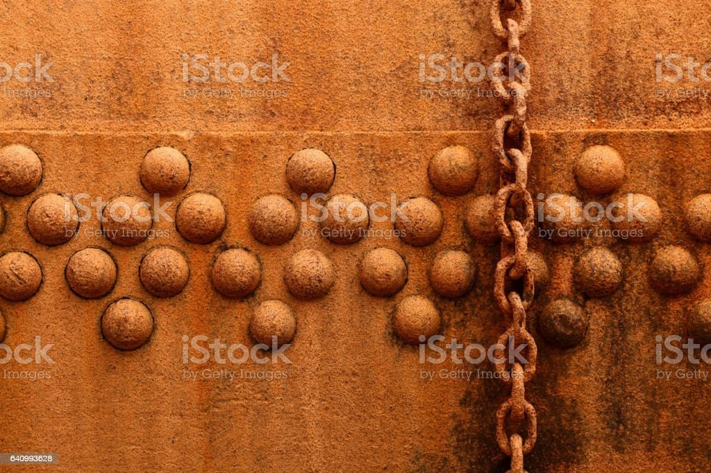 Rust Rivets stock photo