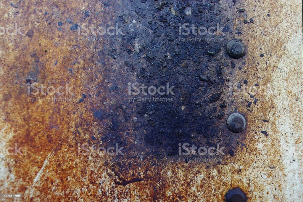 Rust & Rivits Texture royalty-free stock photo