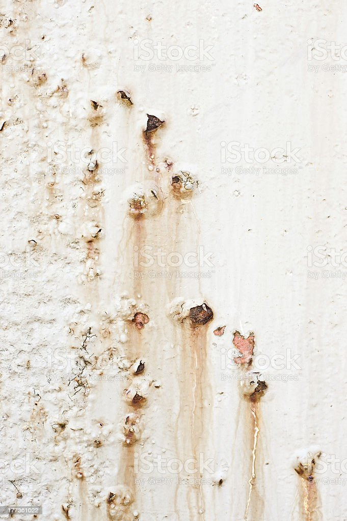 Rust Runs and Peeling Paint 2 royalty-free stock photo