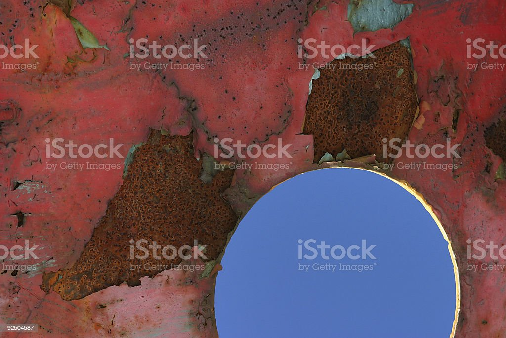 Rust shapes royalty-free stock photo