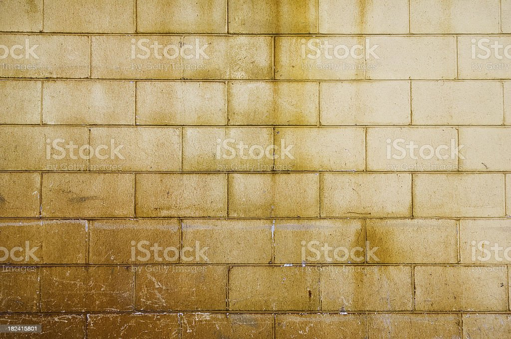 Rust stained wall royalty-free stock photo