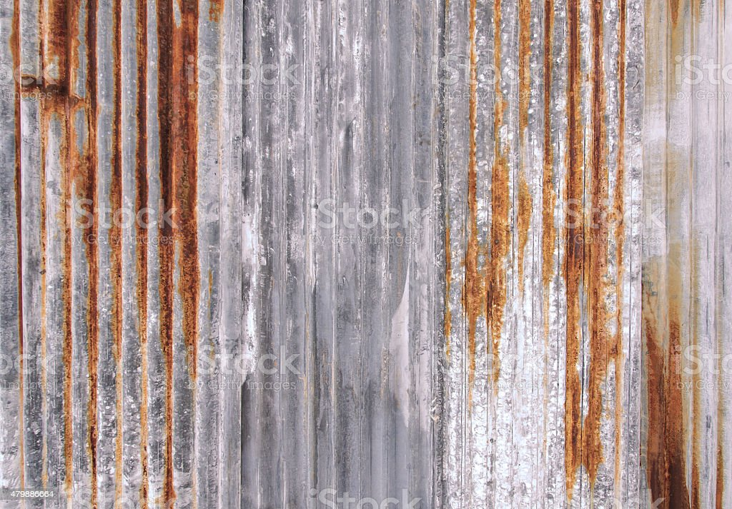 Rust texture zinc wall for background stock photo
