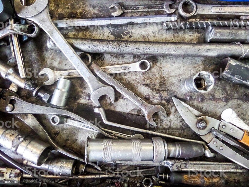 Rust tools stock photo