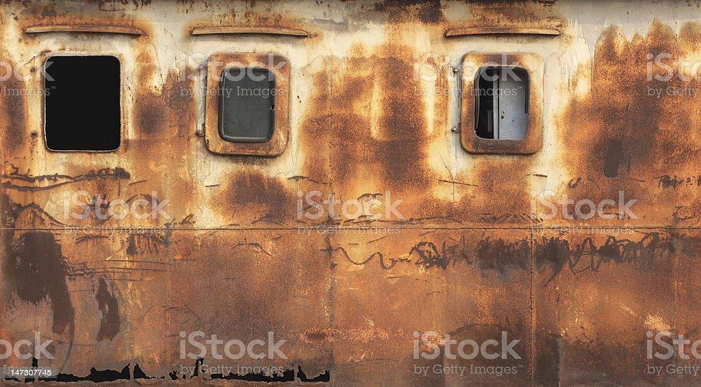 Rust windows royalty-free stock photo