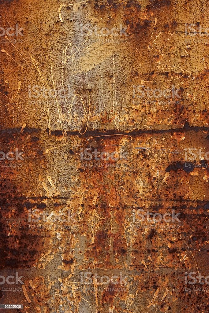 rust with scratches royalty-free stock photo