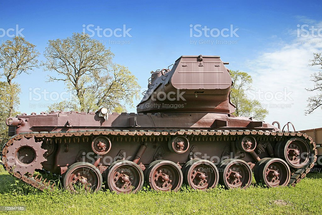Rusted Army Tank royalty-free stock photo
