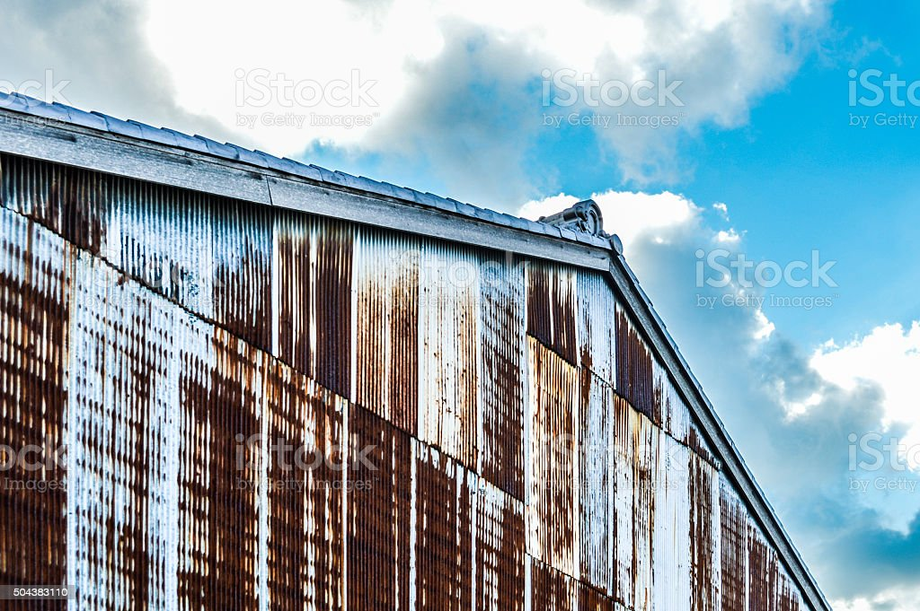 Rusted barn stock photo
