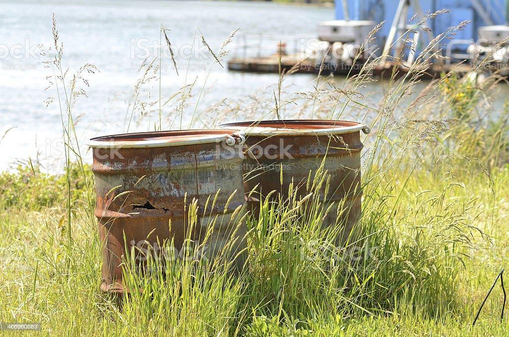 Rusted Barrels stock photo