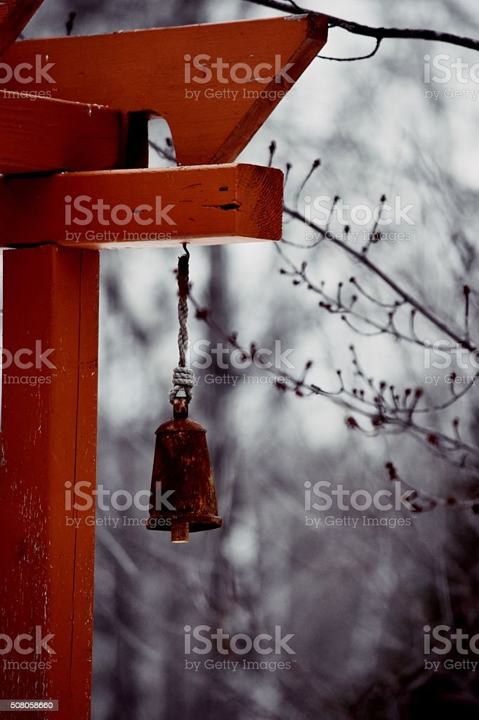 rusted bell royalty-free stock photo