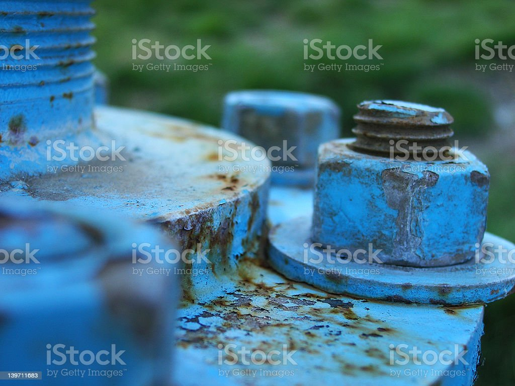 rusted blue royalty-free stock photo