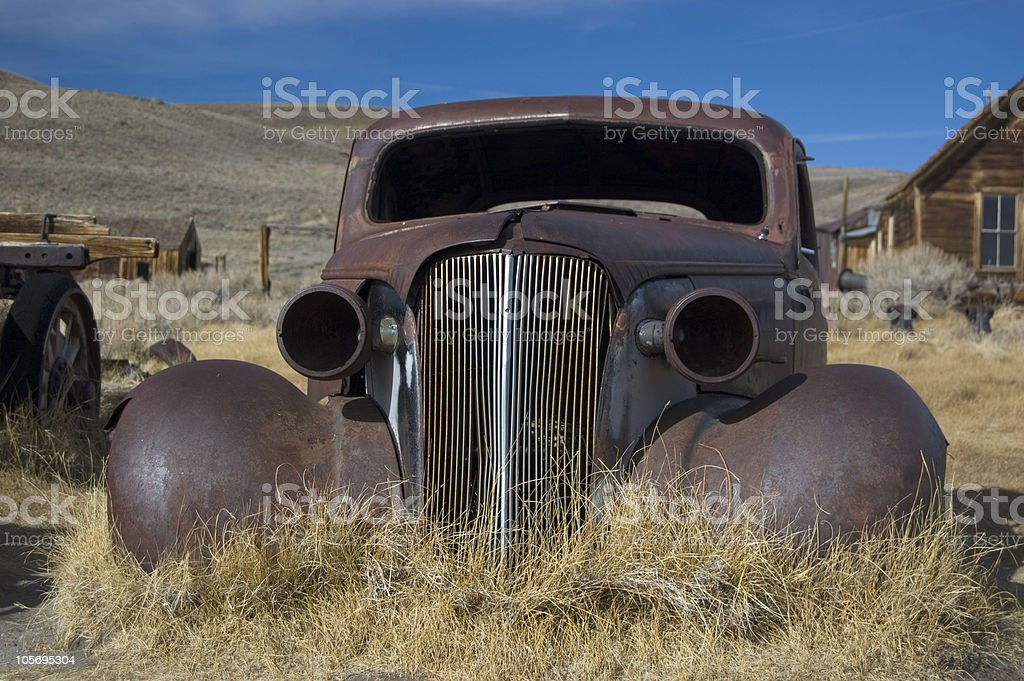 Rusted Car at Bodie Ghost Town royalty-free stock photo