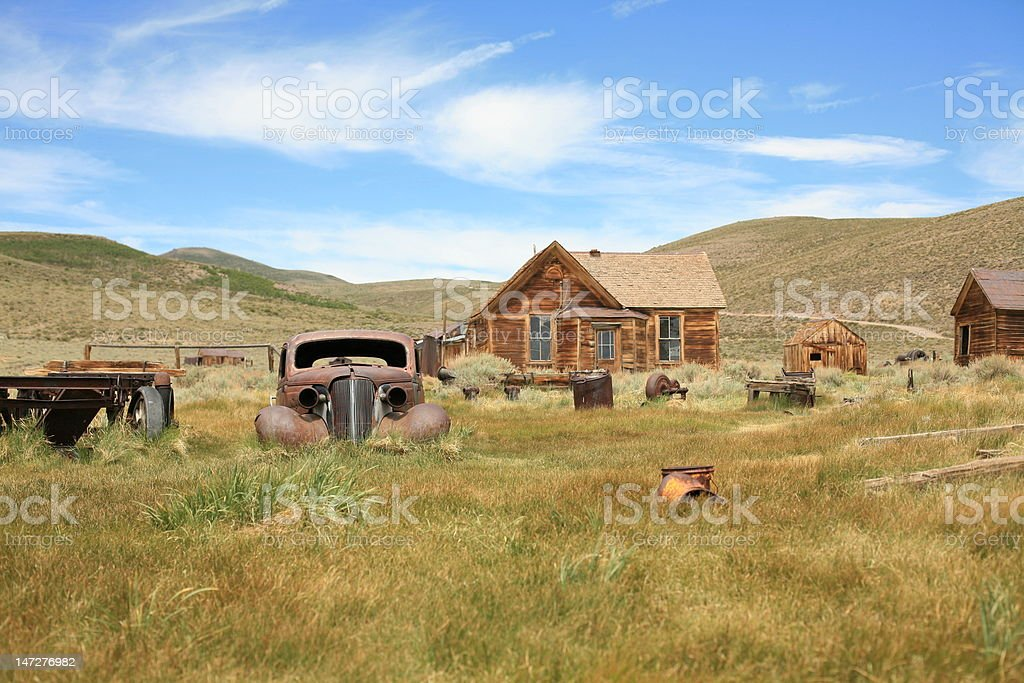 Rusted Car in Ghost Town royalty-free stock photo