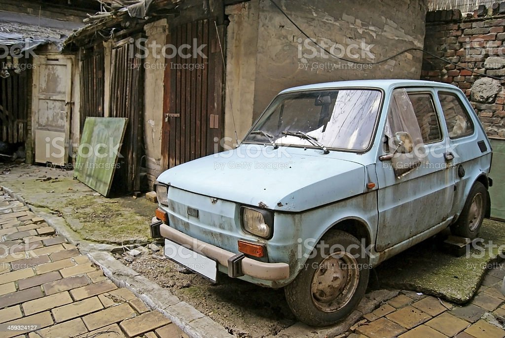 Rusted car stock photo