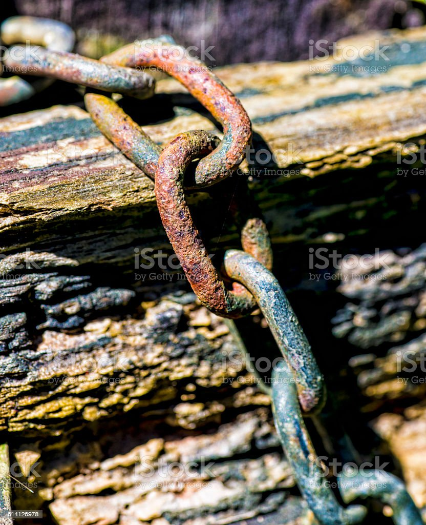 Rusted chain stock photo