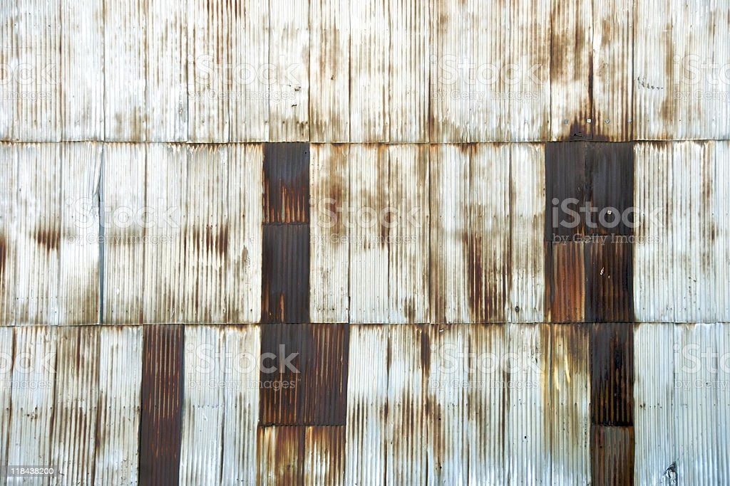 Rusted Corrugated Industrial Siding royalty-free stock photo