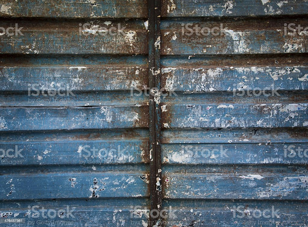 Rusted Corrugated Metal royalty-free stock photo