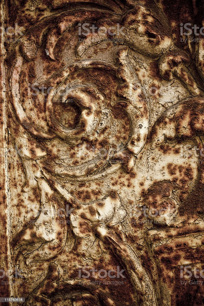 Rusted decorative pattern metal royalty-free stock photo