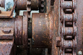 Rusted Engine Background , Not in use