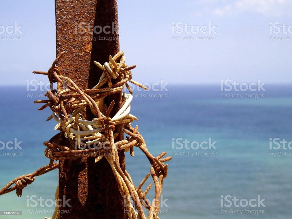 Rusted Fence stock photo
