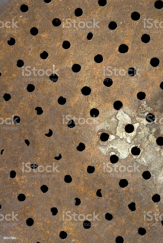 rusted floor drain royalty-free stock photo