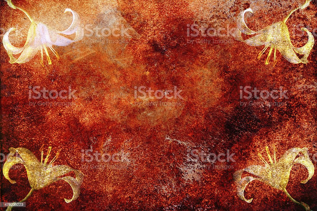 Rusted Flowers royalty-free stock photo