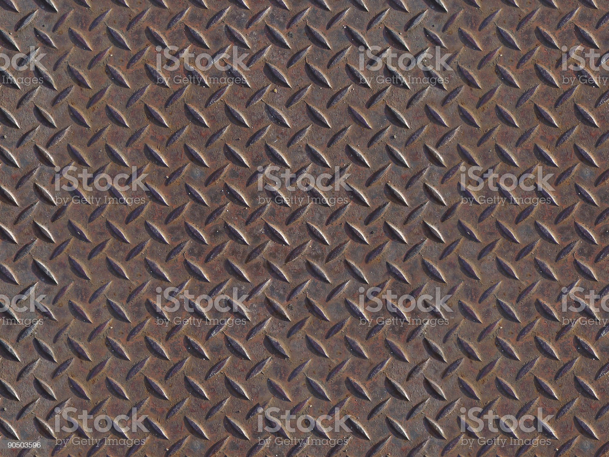 rusted foot tread royalty-free stock photo