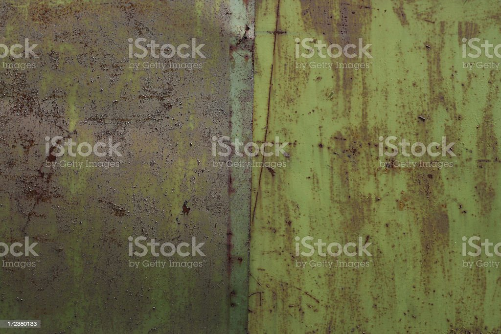 Rusted Green Metal royalty-free stock photo