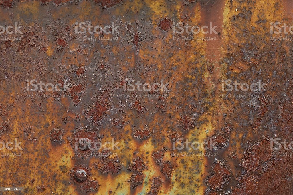 Rusted Grungy Corroded Metal royalty-free stock photo