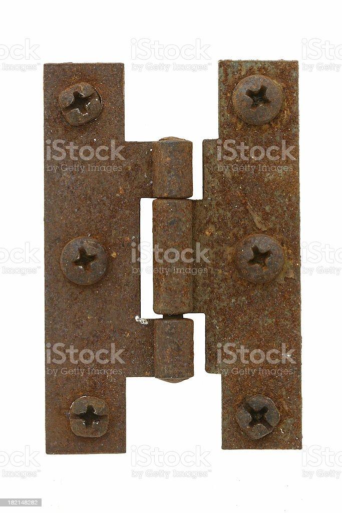 Rusted Hinge stock photo