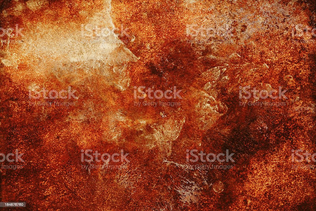Rusted Imprint stock photo