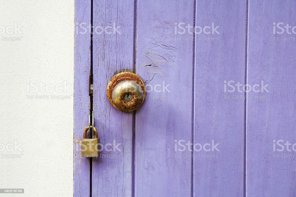 Rusted  lock Door stock photo