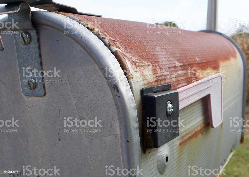Rusted Mailbox stock photo