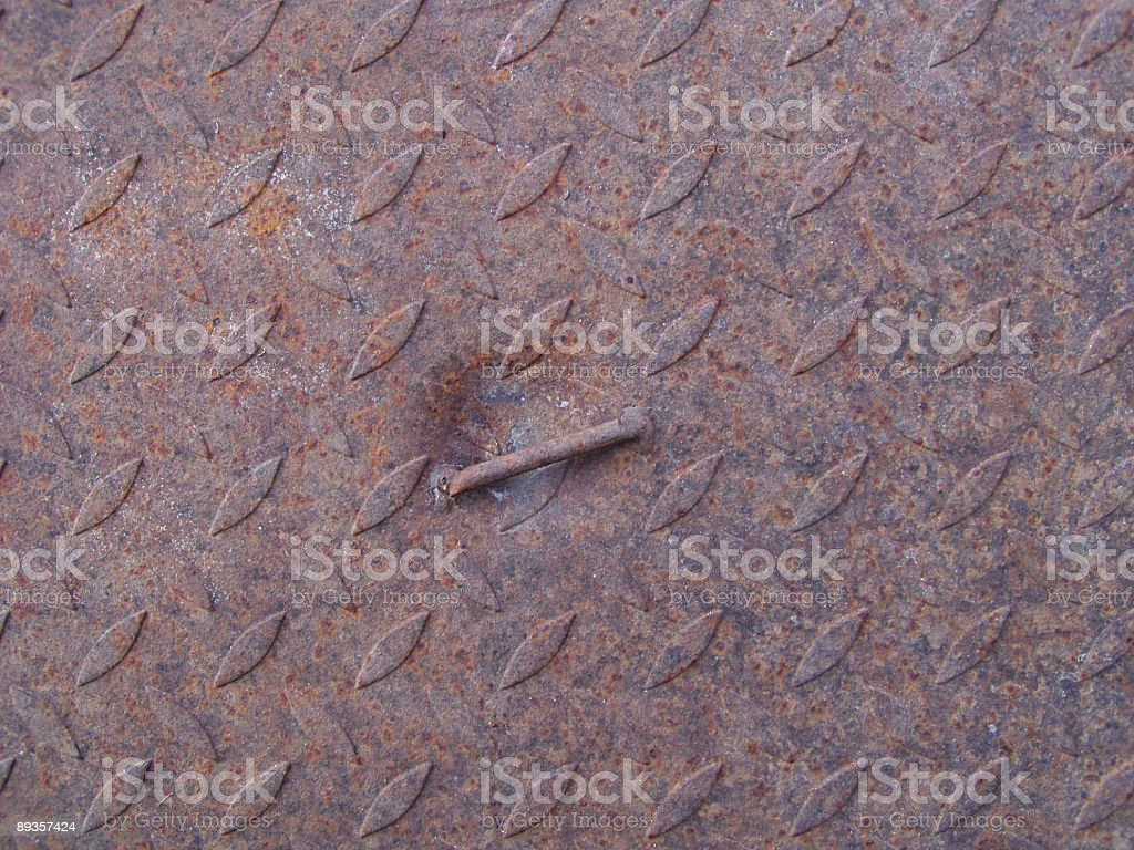 Rusted manhole texture royalty-free stock photo