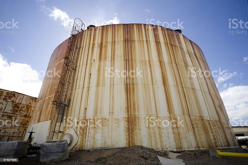 Rusted Manufacturing Tank royalty-free stock photo