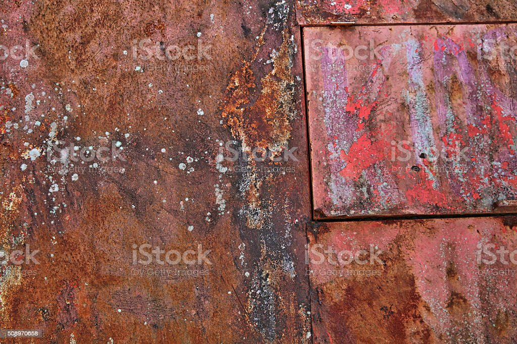 Rusted Metal and Peeling Paint Texture stock photo