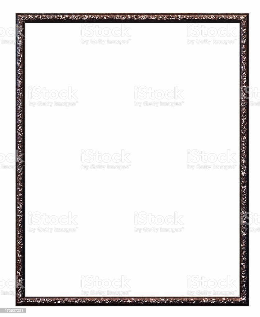 Rusted metal frame royalty-free stock photo