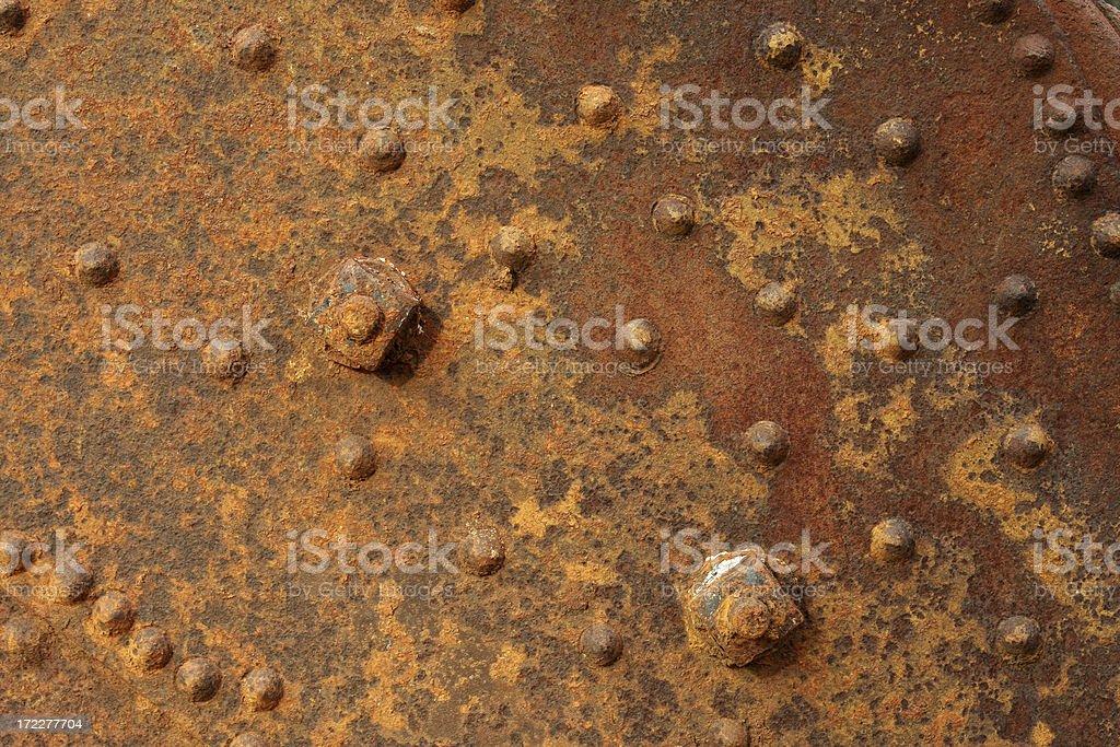 Rusted metal panel stock photo