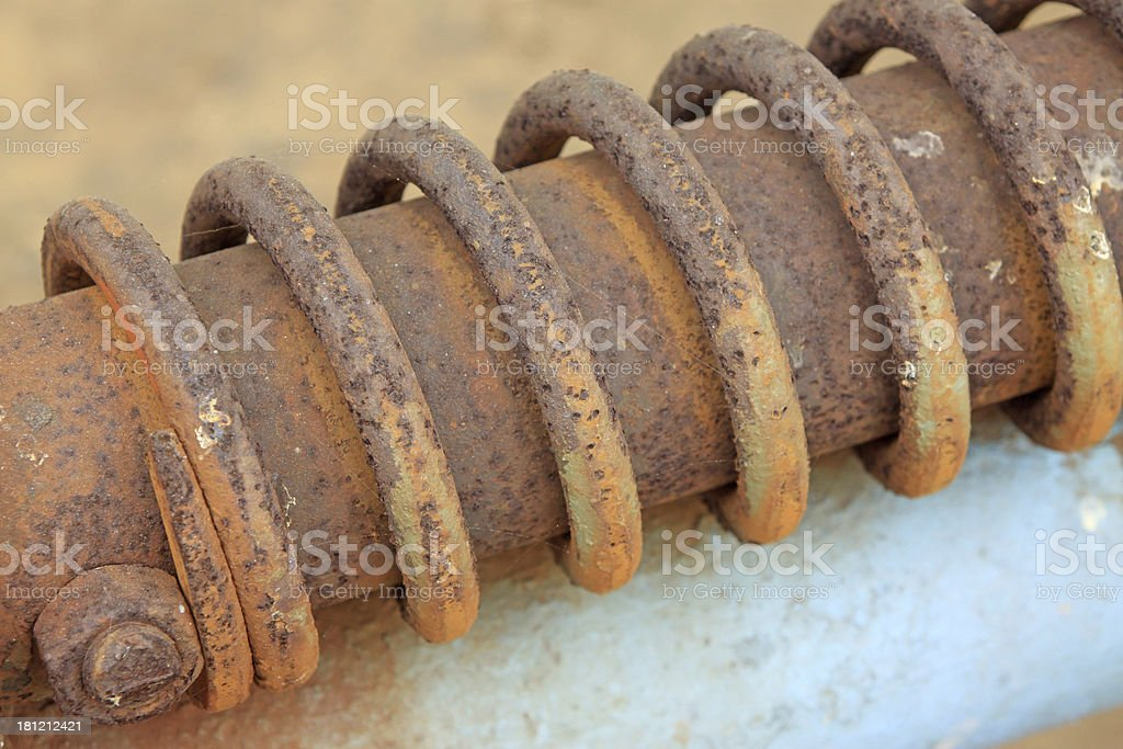 rusted metal parts royalty-free stock photo