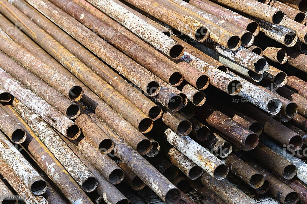 Rusted Metal Pipe stock photo