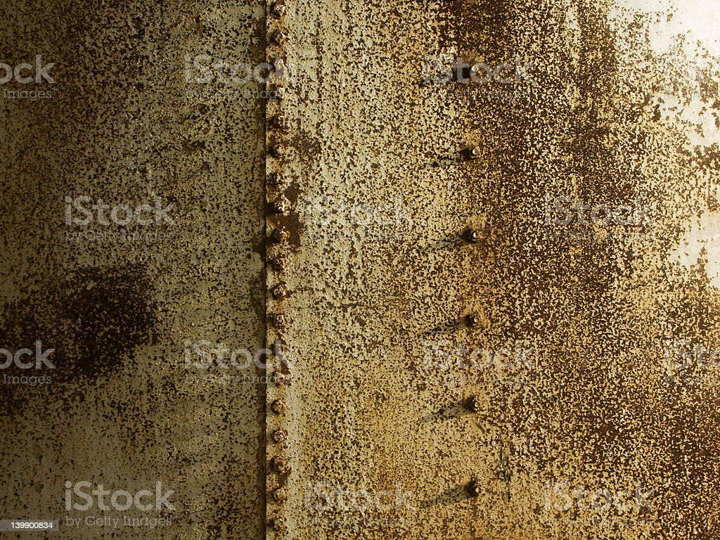 Rusted Metal with Studs royalty-free stock photo