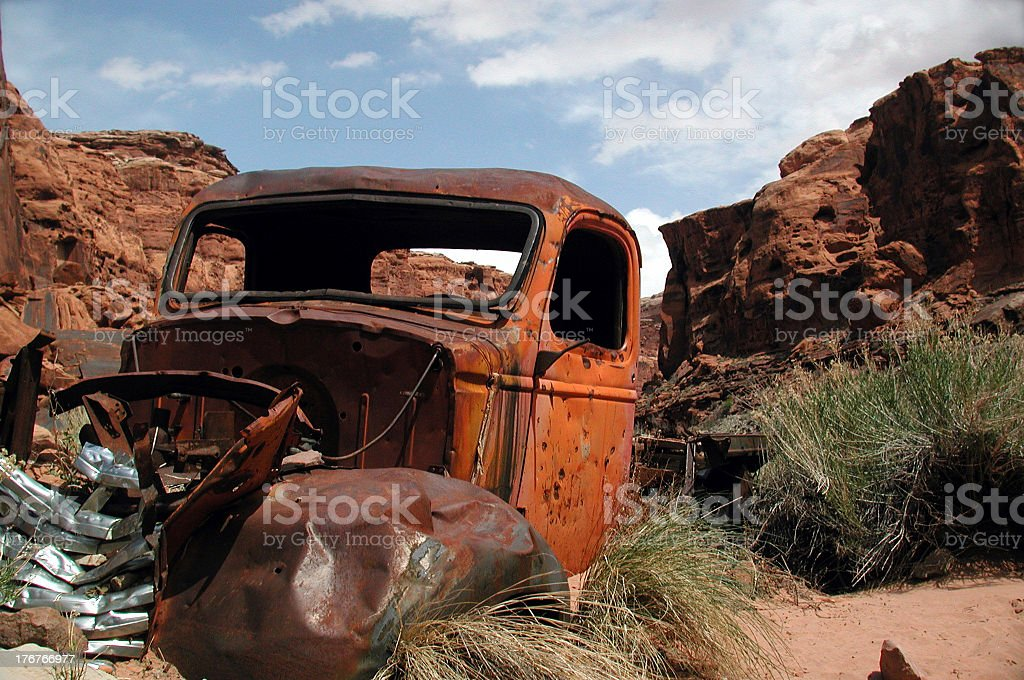 Rusted 'ol truck. stock photo