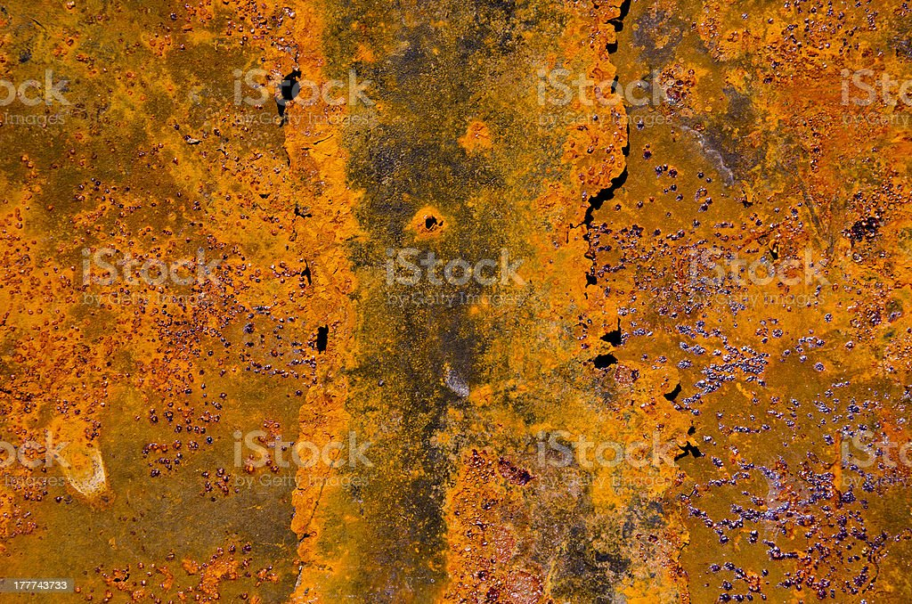 rusted old and cracked tin background royalty-free stock photo