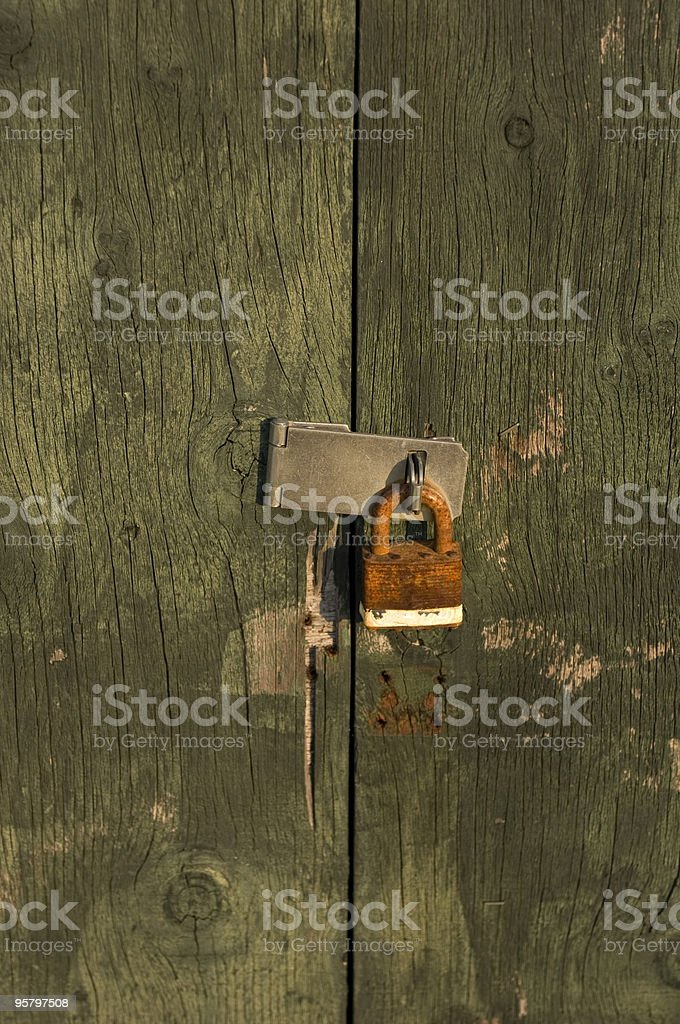 Rusted Old Padlock royalty-free stock photo