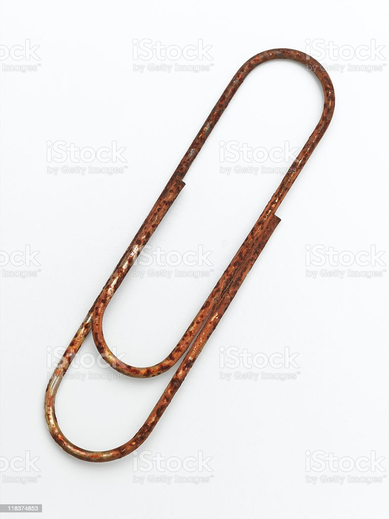 Rusted Paper Clip royalty-free stock photo