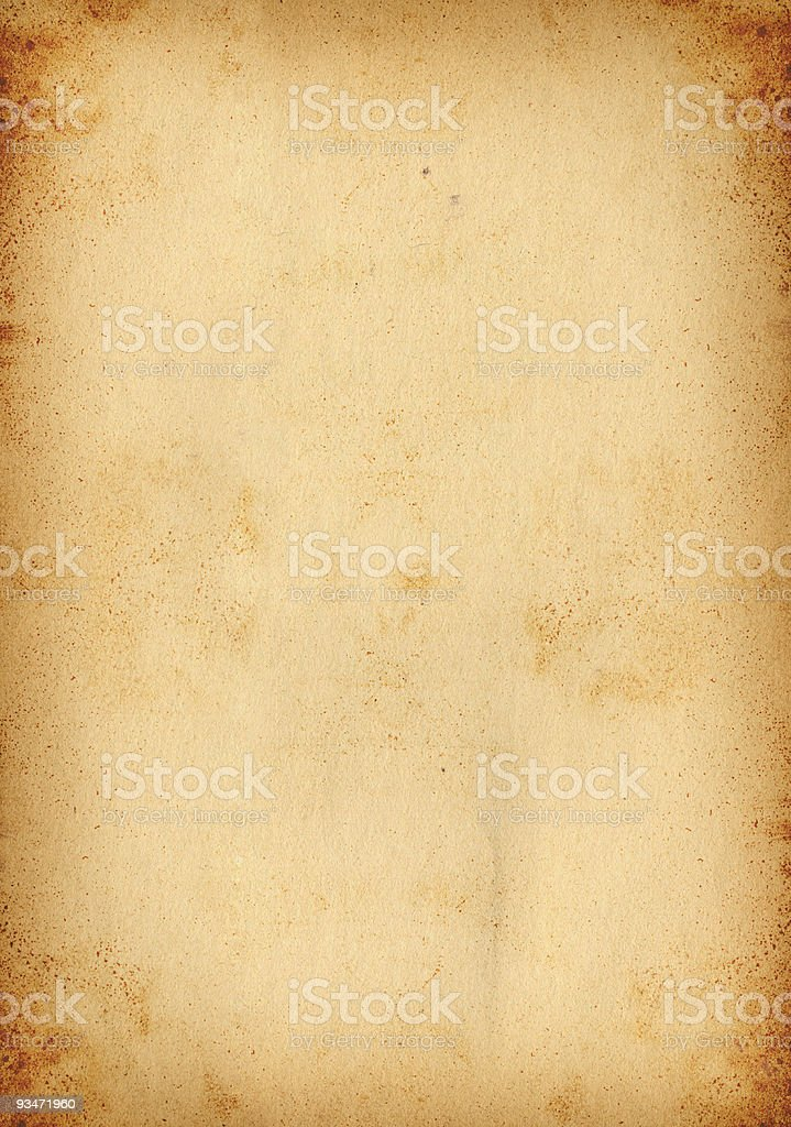 Rusted Paper royalty-free stock photo